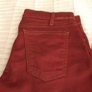 Current/Elliott Jeans - Current/Elliott Stiletto in Rodeo Red
